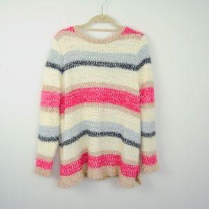 Lane Bryant Sweater Striped Fuzzy